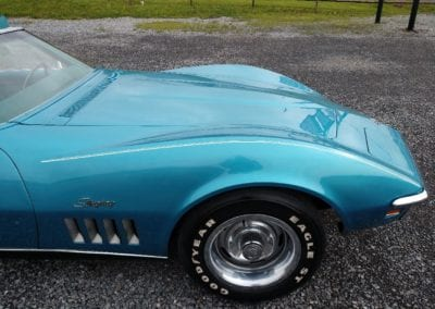 1969 LeMans Blue Corvette Stingray Convertible 4spd For Sale