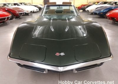 1969 Fathom Green Corvette Stingray Convertible Four Speed Manual For Sale