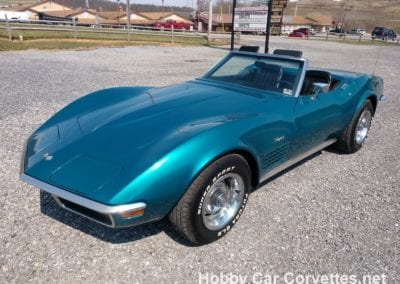 1972 Turquoise Corvette Convertible Manual Trans For Sale
