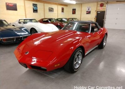 1974 Red Corvette Stingray Convertible
