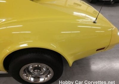 1974 Bright Yellow Corvette Automatic Saddle Interior For Sale