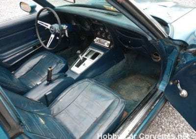 1975 Bright Blue Corvette Stingray Manual For Sale
