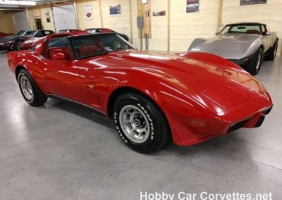 1979 Red Corvette L82 Automatic Red Leather Int
