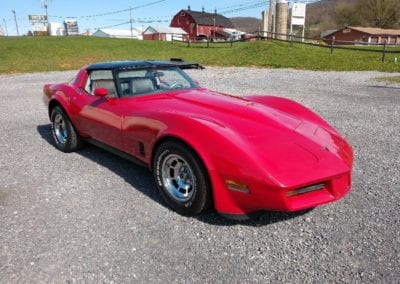 1981 Red Corvette Silver Leather Interior For Sale
