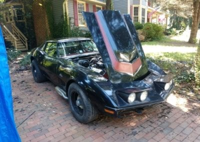 1970 Black LT1 Corvette TTop Manual Transmission