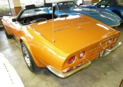1972 Ontario Orange Corvette Stingray Convertible Automatic