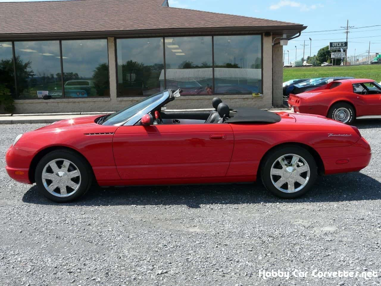 2002 Red Ford Thunderbird