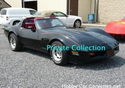 1981 Black Big Block Corvette T Top